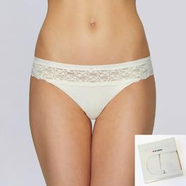 2 PACK, figi damskie bikini lp-2730-ecru Atlantic