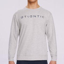 Bluza piżamowa nmt-032-szary melanŻ Atlantic