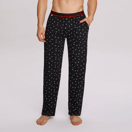 spodnie piżamowe, mrówki <br> czarny, NMB-036 - Atlantic Atlantic