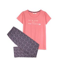 piżama damska bawełniana nlp-450-rÓŻowy ciemny Atlantic Atlantic