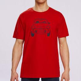T-shirt bawełniany nmt-031-czerwony Atlantic Atlantic