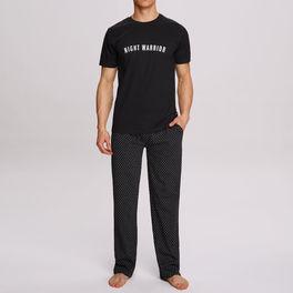Komplet piżamy męskiej bawełnianej nmp-305-czarny Atlantic Atlantic