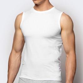 koszulka bawełniana <br> biały, BMV-047 - Atlantic