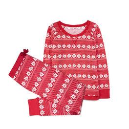 piżama damska komplet z nadrukiem <br> czerwony, NLP-459 - Atlantic