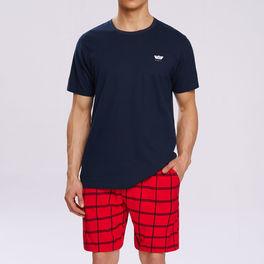 piżama komplet <br> granatowy, NMP-313 Atlantic