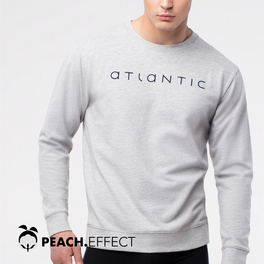 bluza piżamowa <br> szary melanż, NMT-032 - Atlantic Atlantic