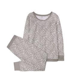 piżama komplet, panterka <br> szary, NLP-452