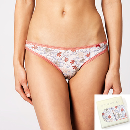 <b>2 szt.</b>, figi mini bikini, nadruk <br> mix kolorów, LP-2682 - Atlantic Atlantic