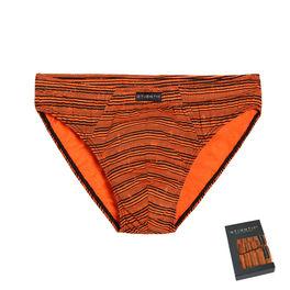 <b>2 szt.</b>, slipy sport bawełniane <br> pomarańczowy, MP-1388 - Atlantic Atlantic
