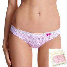 <b>2 szt.</b>, figi damskie bikini <br> różowy jasny, LP-2666 - Atlantic