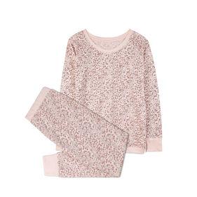piżama damska komplet, panterka <br> różowy jasny, NLP-452 - Atlantic