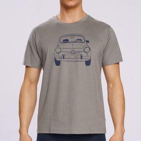 t-shirt męski <br> szary, NMT-031 - Atlantic