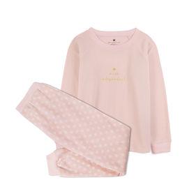 piżama komplet <br> różowy jasny, NLP-457