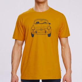 t-shirt męski <br> żółty ciemny, NMT-031 - Atlantic