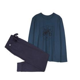 piżama komplet <br> granatowy, NMP-306 - Atlantic