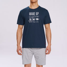 piżama komplet <br> granatowy, NMP-310 - Atlantic