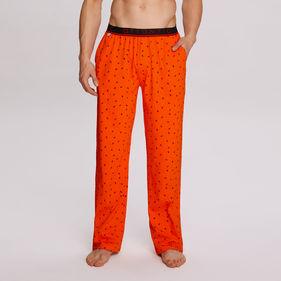 spodnie -piżama w mrówki nmb-036-pomaraŃczowy Atlantic