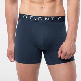 szorty męskie z wydłużoną nogawką <br> MH-1110-denim Atlantic