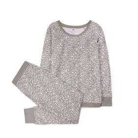 piżama komplet, panterka <br> szary, NLP-452 - Atlantic