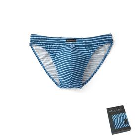 <b>2 szt.</b>, slipy sport bawełniane <br> niebieski, MP-1386 - Atlantic