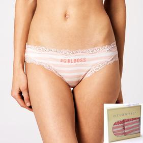<b>2 szt.</b>, figi damskie mini bikini <br> różowy jasny, LP-2679 - Atlantic