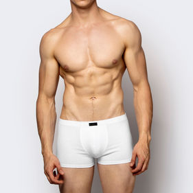 szorty męskie <br> biały, BMH-007 - Atlantic