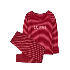 piżama damska komplet <br> bordowy, NLP-453 - Atlantic