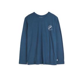 koszulka piżamowa męska <br> granatowy, NMT-030 - Atlantic