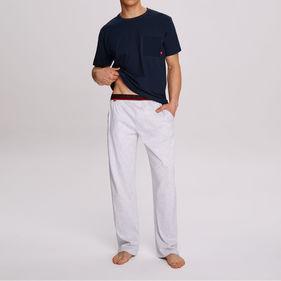 piżama męska komplet <br> granatowy, NMP-312 - Atlantic